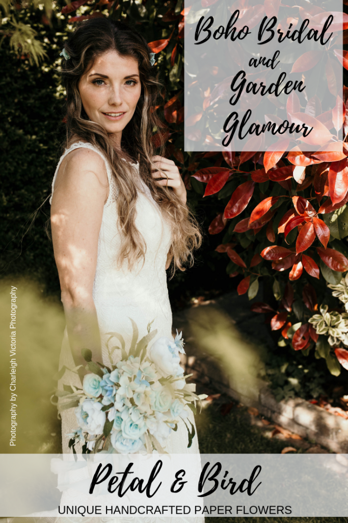 boho bridal meets garden glamour styled shoot