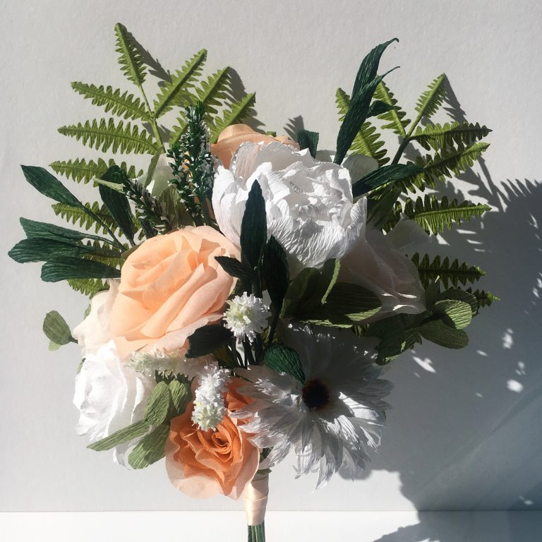 bridal bouquet recreation made from paper