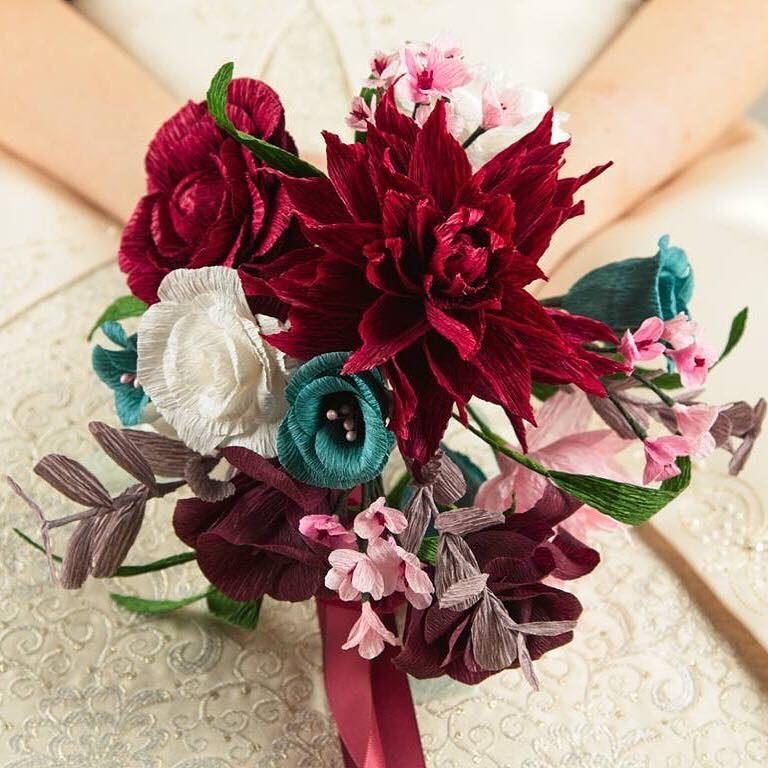 elopement paper bouquet