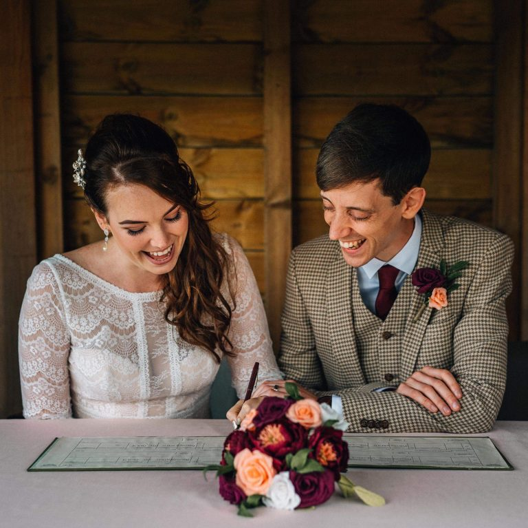 real wedding with paper flowers by petal and bird