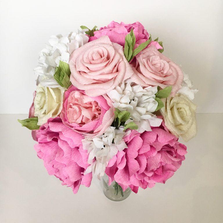 wedding bouquet paper recreation
