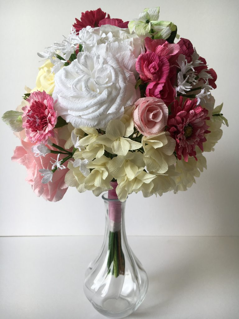 paper bouquet replica by petal and bird for wedding anniversary gift