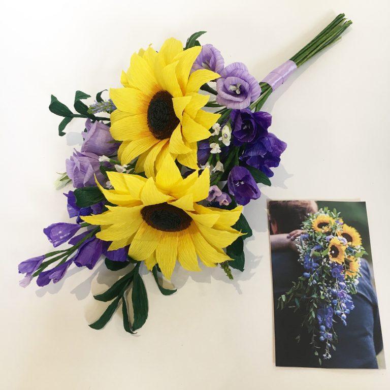 paper wedding bouquet recreations by petal and bird