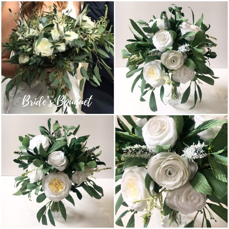 Brides Bouquet paper recreation by Petal and Bird