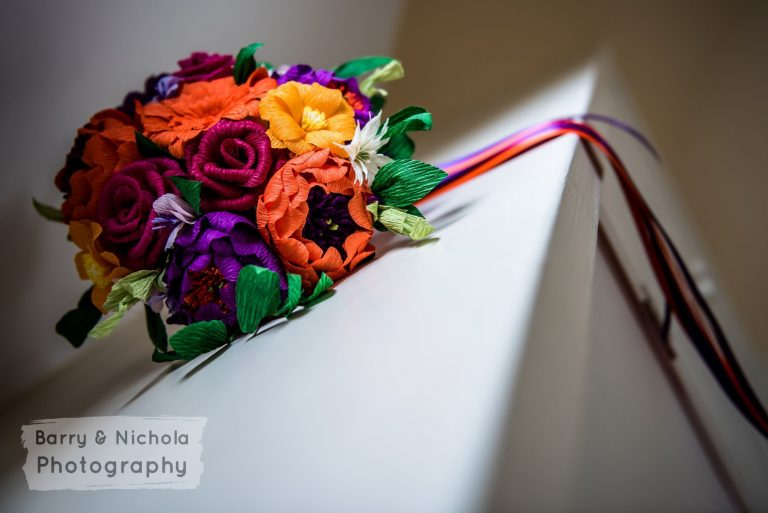 colourful paper bouquet Petal and Bird