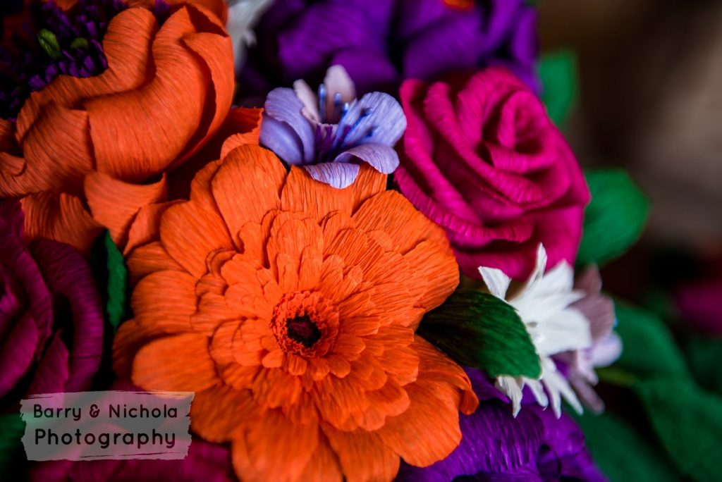 colourful paper wedding bouquet