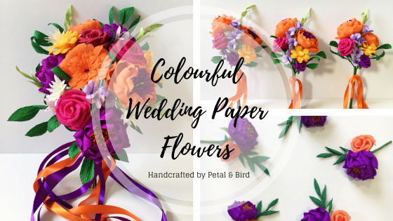 colourful wedding flowers by Petal and Bird
