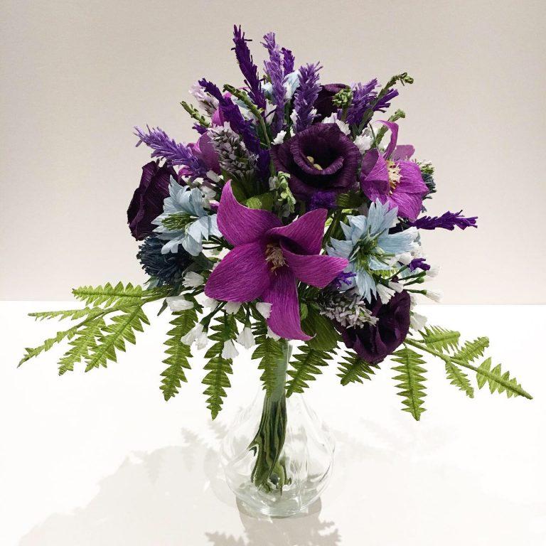 Paper Wedding bouquet by Petal & Bird