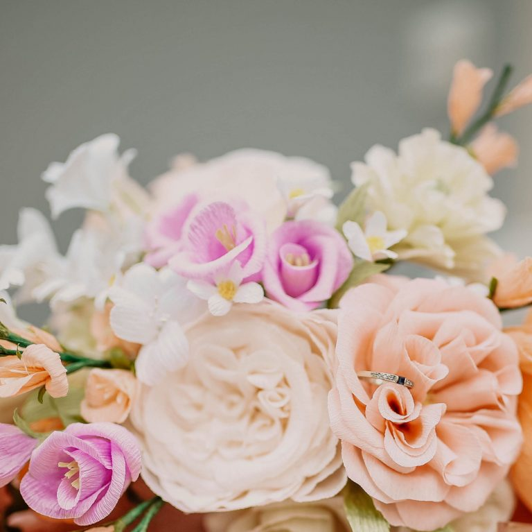 Petal and Bird paper wedding flowers