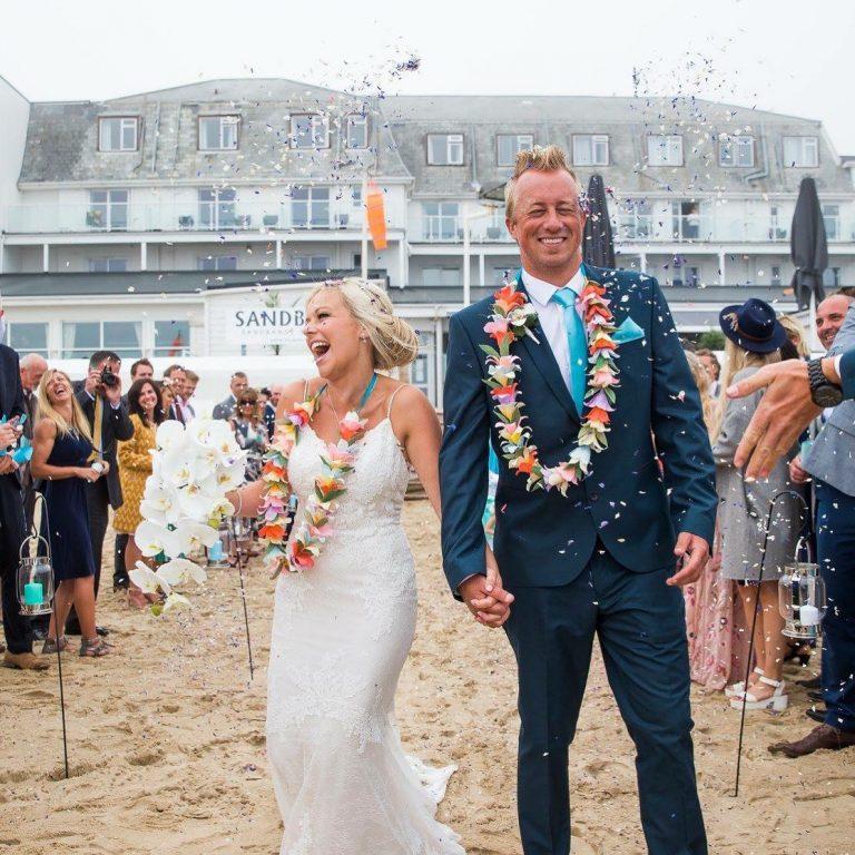 Petal and Bird paper wedding flowers Beach wedding