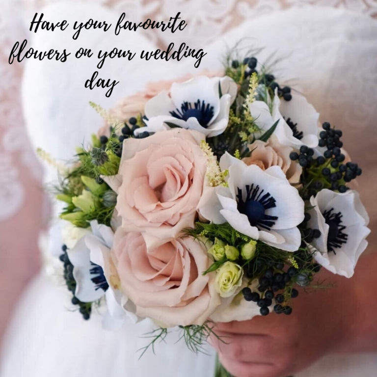 favourite flowers on your wedding day