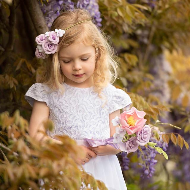 flowergirl paper flowers