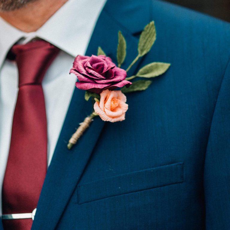 paper buttonholes