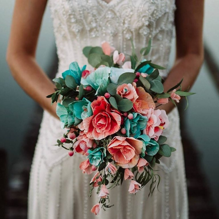 paper wedding flowers bouquet