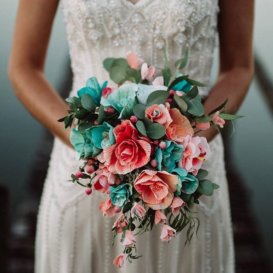 paper wedding flowers bouquet