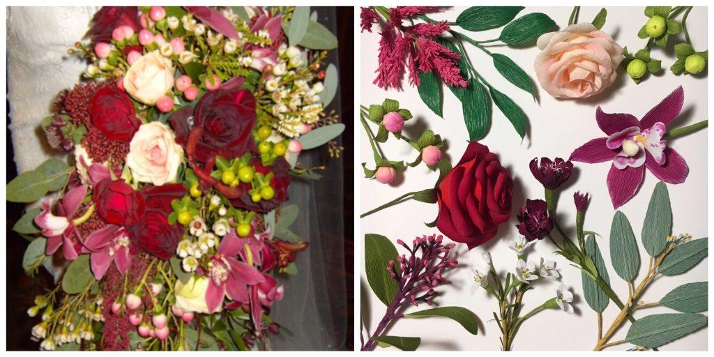 framed flower wedding anniversary gift