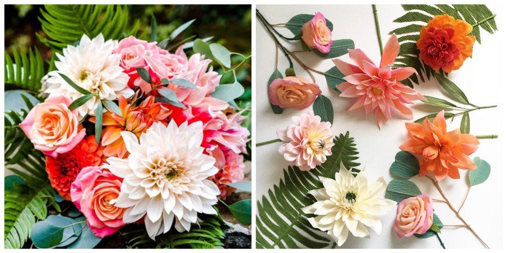 frames paper wedding flowers