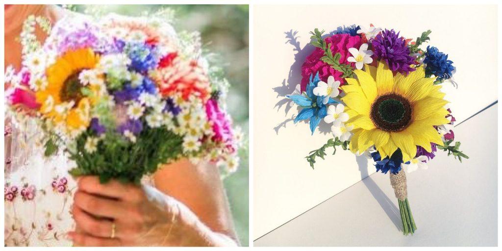 colourful paper bouquet