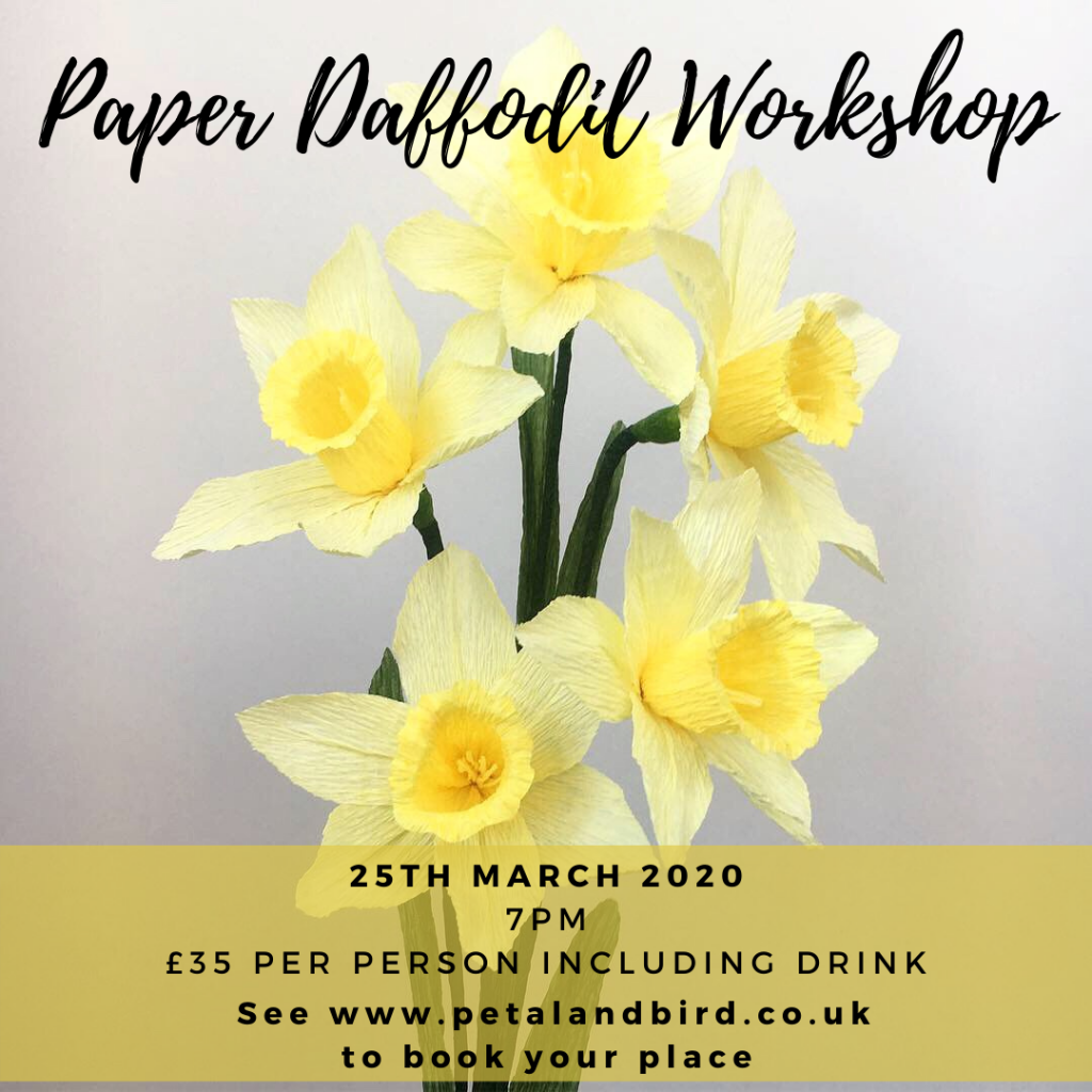 Paper Daffodil Workshop with Petal and Bird