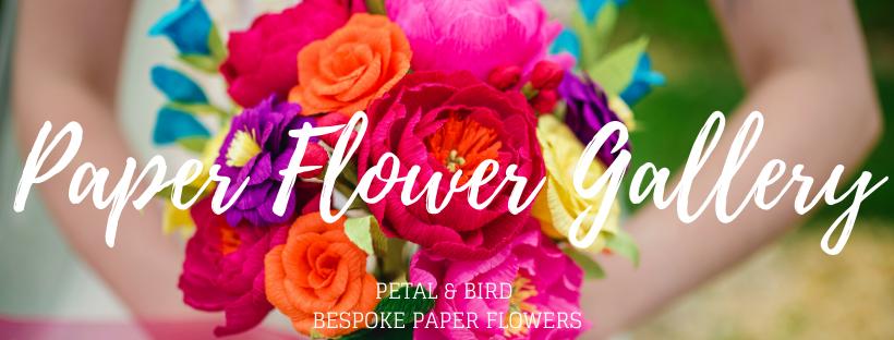 Paper Flower Gallery Petal & Bird