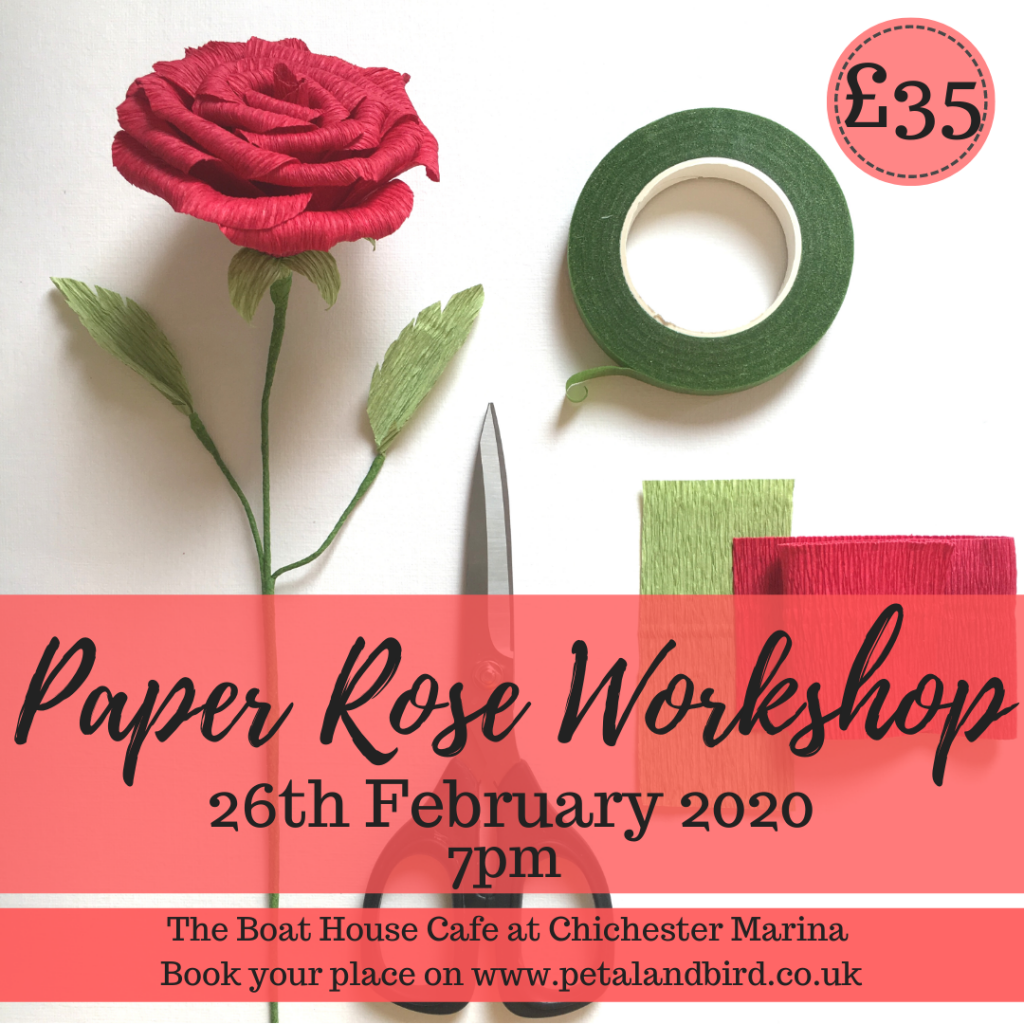 Paper Rose Workshop 26th february