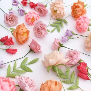 coloursful paper wedding flowers