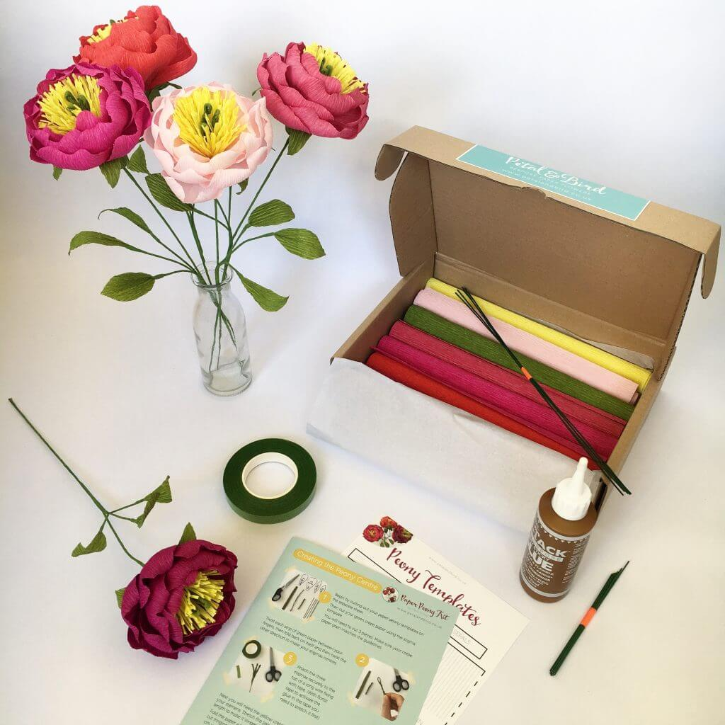 Paper Flower kit by Petal and Bird
