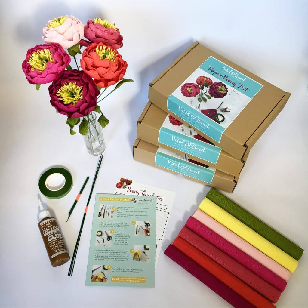 Petal and Bird Paper Flower Kit