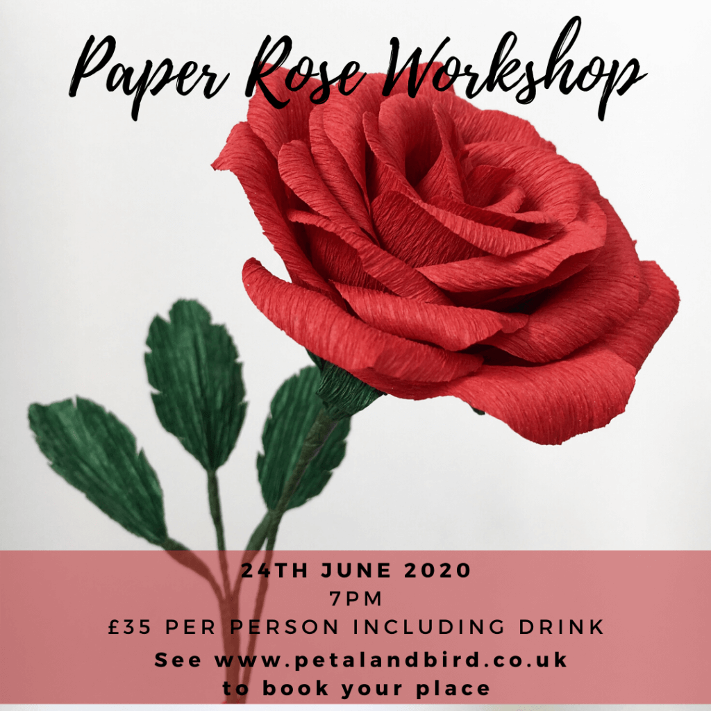 paper rose workshop june 2020