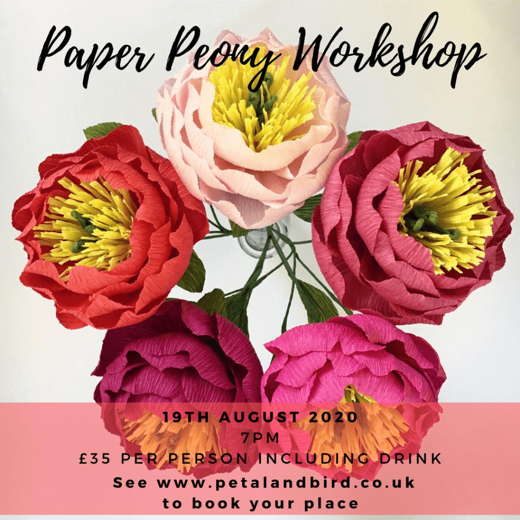 Paper Peony Workshop August 2020