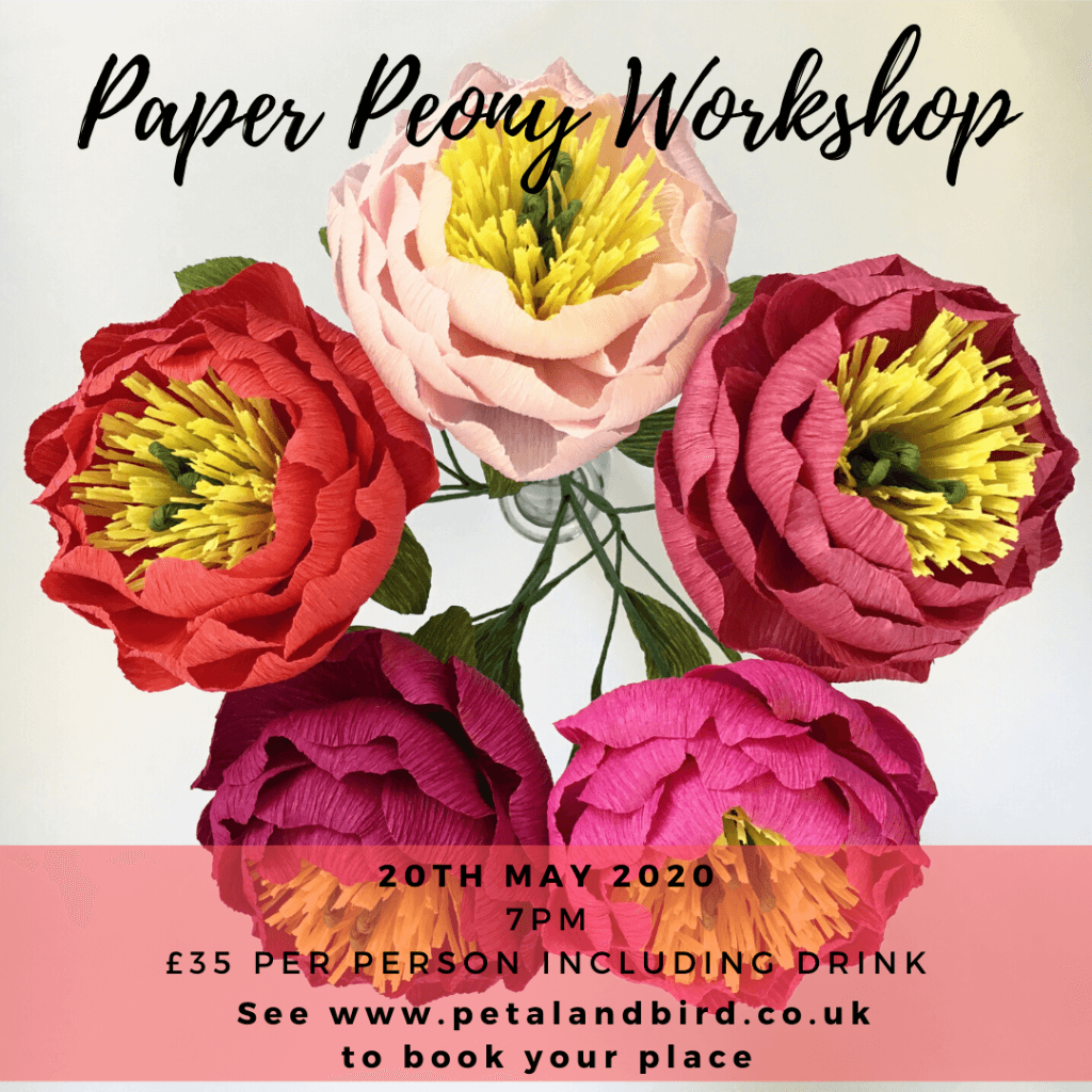 paper peony workshop may 2020