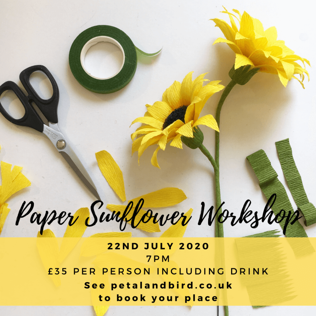 Paper Sunflower workshop July 2020