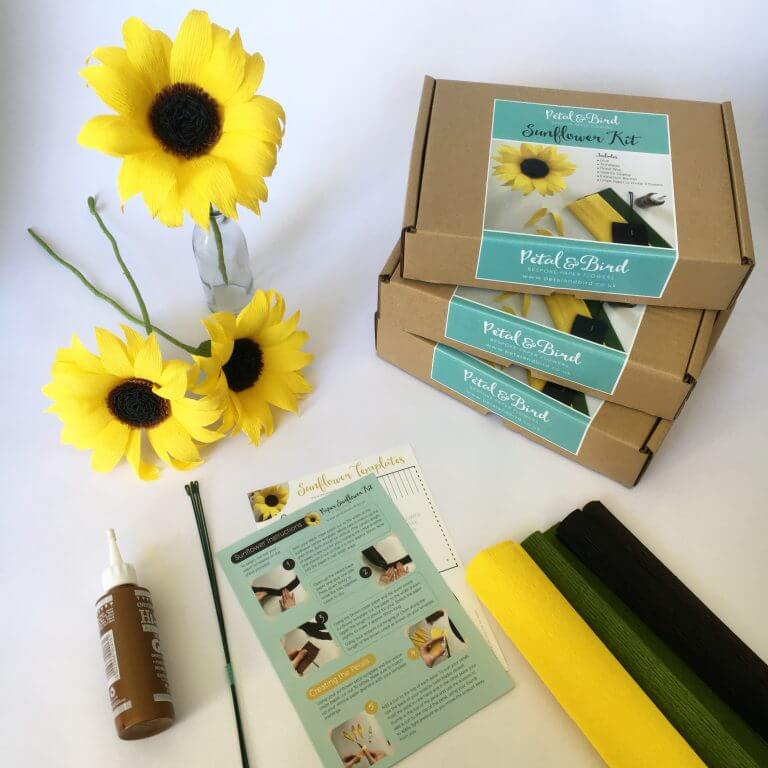 Petal and Bird Paper Sunflower Kit
