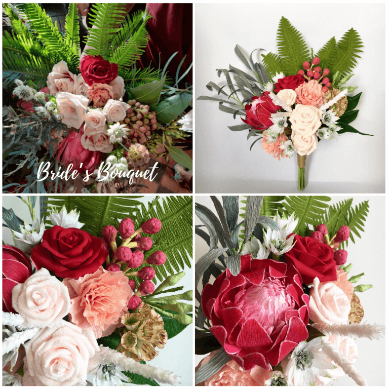 Wedding Bouquet Paper Replica
