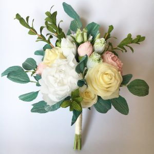 Paper wedding bouquet replica
