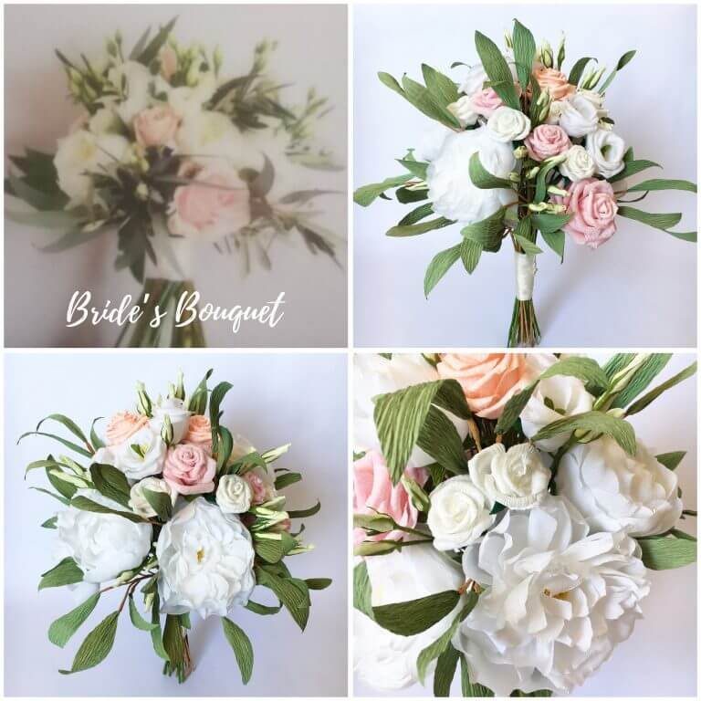 Paper wedding bouquet recreation