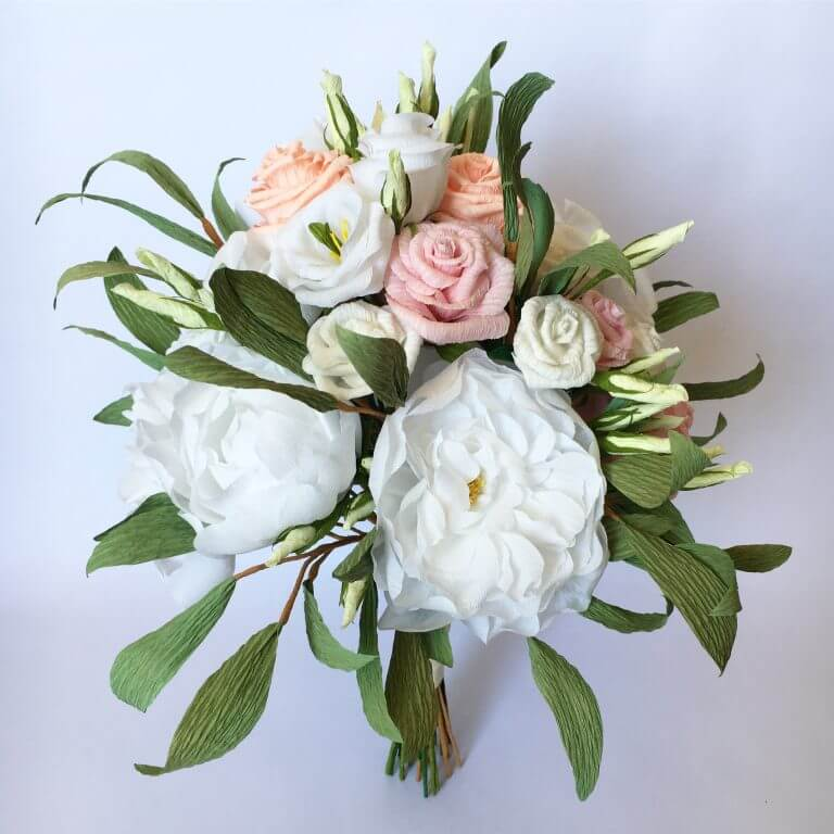 Paper wedding flowers by Petal and Bird