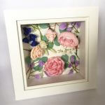 Framed paper wedding flowers by Petal and Bird