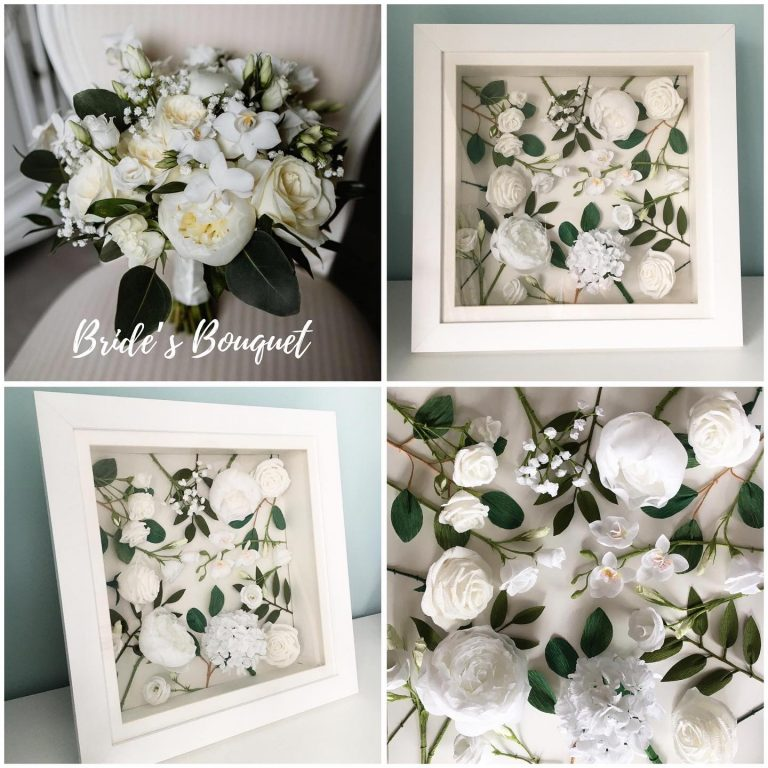 framed paper wedding flowers large