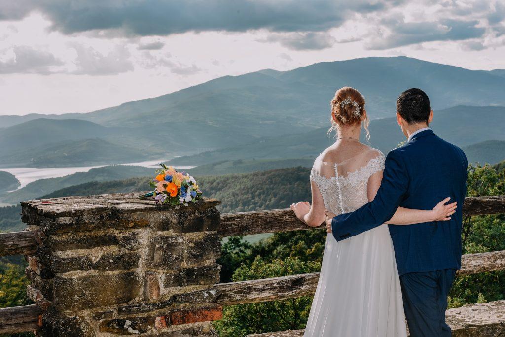 destination paper wedding flowers
