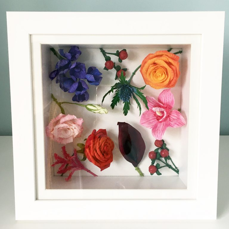 Small Framed Paper Flowers