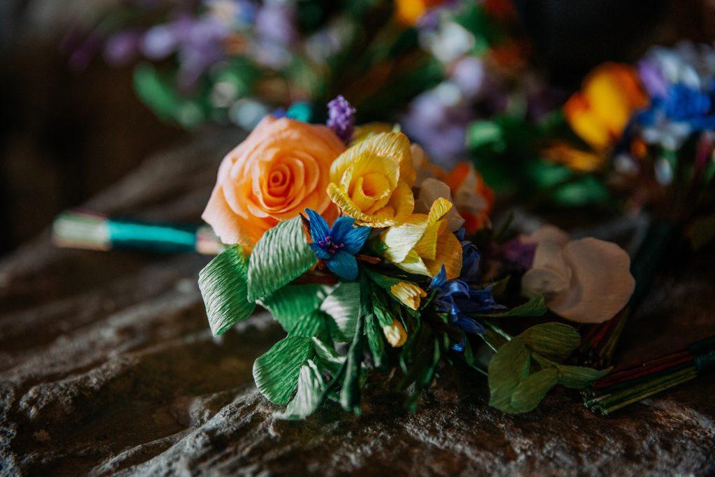 paper bridesmaids bouquet