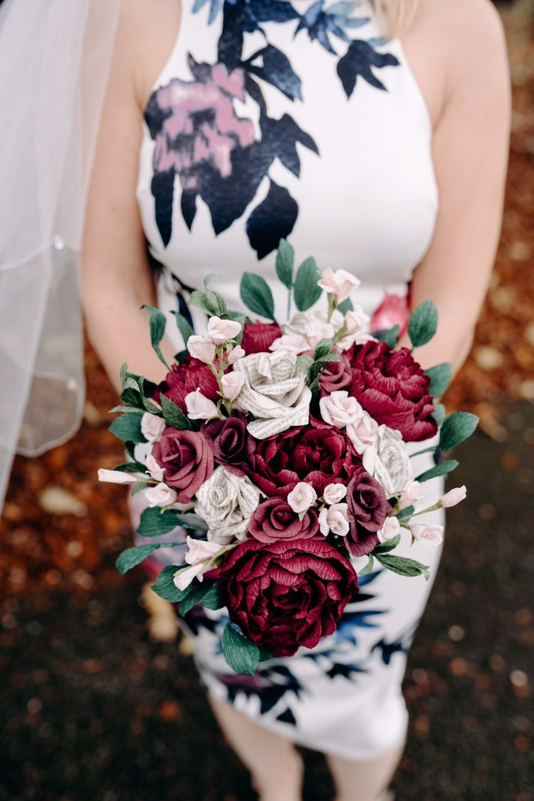 paper wedding bouquet
